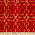 QT Fabrics Woodland Dream Star Foulard Red