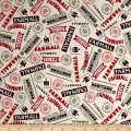 QT Fabrics  Farmall Show Farmall Words Dark Cream