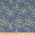 QT Fabrics  Garden Grandeur Scroll Blue