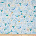 QT Fabrics  Little Squirt Whales White