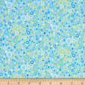 QT Fabrics  Little Squirt Bubbles Blue