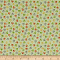 QT Fabrics  Jungle Buddies Paw Prints Lt. Green