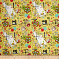 QT Fabrics The Quilted Cottage Everything Sewing Light Yellow