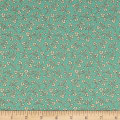 QT Fabrics Harlow Floral Spray Light Aqua