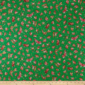 QT Fabrics Holiday Minis Santas Green