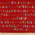 QT Fabrics Holiday Minis Snowman Red