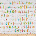 QT Fabrics Holiday Minis Snowman White