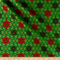 Miracle In Bethlehem Geo Poinsettias Gold Metallic/Green