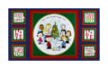 "QT Fabrics Peanuts Peace*Love*Joy Peace Love Joy Caroler 24"" Panel Navy"