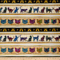 QT Fabrics  Purr-Suasion Cat Decorative Stripe Multi