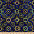QT Fabrics  Purr-Suasion Cat Diamond Royal