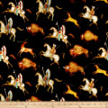 QT Fabrics  Southwest Soul Bison Run Black