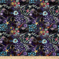 Down Under Aboriginal Tossed Sea Creatures Purple/ Multi