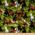 Horse Play Field Of Horses Green/Multi