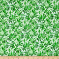 Isle Tropical Ferns White/Green