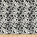 Black Tie Metallic Etched Small Floral Black/White