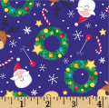 Noel Tossed Holiday Friends Navy/Multi
