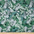 Kanvas Essence of Pearl Sheer Leaves Green Metallic Silver