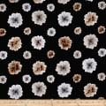 Kanvas Essence of Pearl Floating Blossoms Black Metallic Silver