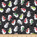 Contempo Let It Snow Joyful Snowman Dark Grey