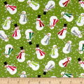 Contempo Let It Snow Joyful Snowman Lime