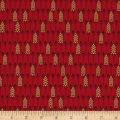 Kanvas Merry & Bright Mini Pine Geo Metallic Red