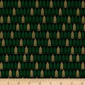 Kanvas Merry & Bright Mini Pine Geo Metallic Black