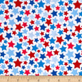 Riley Blake Patriotic Stars White
