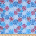 Riley Blake Patriotic Fireworks Light Blue