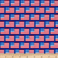 Riley Blake Patriotic Picnic Flags Blue