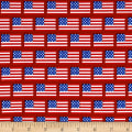 Riley Blake Patriotic Flags Red