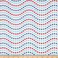 Riley Blake Patriotic Picnic Wave White