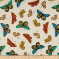 Cotton + Steel Rifle Paper Co. English Garden Monarch Canvas Metallic Natural