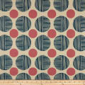 Cotton + Steel Imagined Landscapes Stone Path Canvas Navy