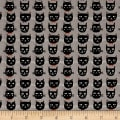 Riley Blake Cats Bats And Jacks Jacks Cats Gray Glow In The Dark