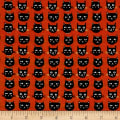 Riley Blake Cats Bats And Jacks Jacks Cats Orange Glow In The Dark