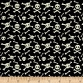 Riley Blake Cats Bats And Jacks Jacks Skulls Black Glow In The Dark