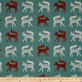 Art Gallery Campsite Sneaky Little Foxes Deep Teal