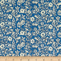 Liberty Fabrics The Cottage Garden Morning Dew Dark Blue