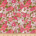 Liberty Fabrics The Cottage Garden Cosmos Meadow Green/Pink
