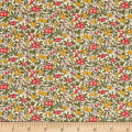 Liberty London Fabrics The Cottage Garden Forget Me Not Green Yellow Red