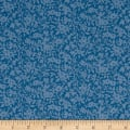 Liberty Fabrics The Cottage Garden Daisy Shadow Dark Blue