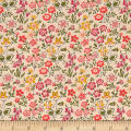 Liberty Fabrics The Cottage Garden Lawn Games Green Yellow Pink