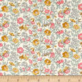 Liberty Fabrics The English Garden Mamie Y Grey Pink Yellow