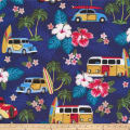 Cloud 9 Annabella Tiki Hawaiian Organic Metallic Navy