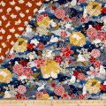 The Moon Rabbit Double Faced Diamond Quilted Blue/Multi