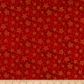 Seasons Greetings Holiday Stars  Metallic Red