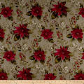Holiday Editions Christmas Florals And Berries Metallic Fog/Multi