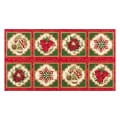 "Kaufman Holiday Flourish 11 Snowflake Ornament 24"" Panel Metallic Holiday"