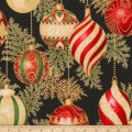 Kaufman Holiday Flourish 11 Ornaments Metallic BlackBlack